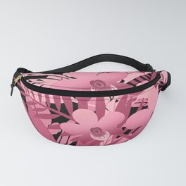 Bouquet of pink tropical plants 2 Fanny Pack