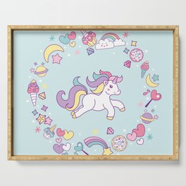 Unicorn Dreams Serving Tray