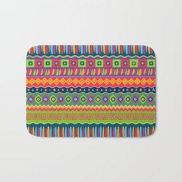African abstract geometric pattern Bath Mat