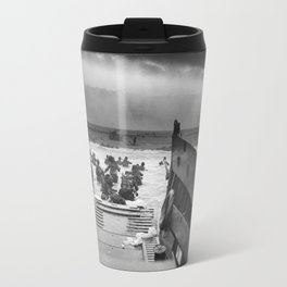 Omaha Beach Landing -- D-Day Normandy Invasion Travel Mug