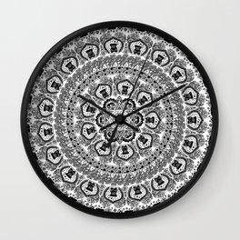 Black Pug Yoga Medallion Wall Clock