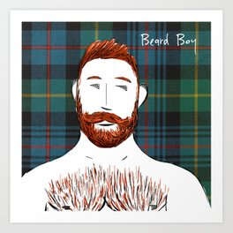 Beard Boy: Finlay Art Print