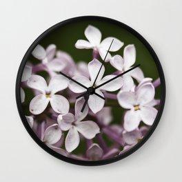 Lilac blossoms Wall Clock