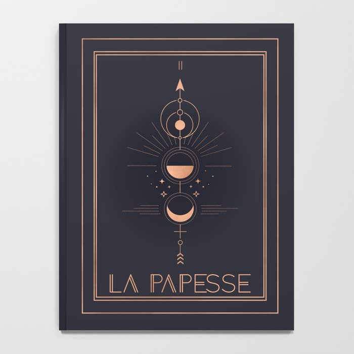La Papesse or The High Priestess Tarot Notebook