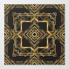 Art Deco Geometric Pattern Canvas Print