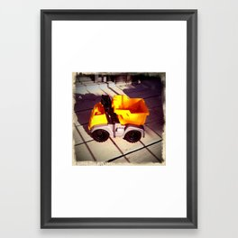 Toy Dumptruck Framed Art Print