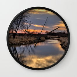 Easter River Wall Clock
