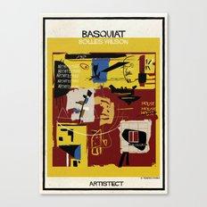 Basquiat+bolles wilson Canvas Print