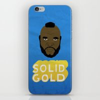 solid iPhone & iPod Skins featuring Solid Gold by Chase Kunz