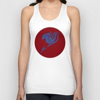 fairy tail Tank Tops featuring Fairy Tail Segmented Logo (Erza) circle by JoshBeck