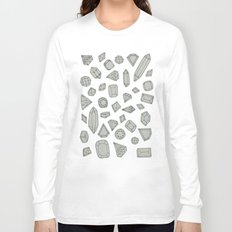 doodle crystals on white Long Sleeve T-shirt