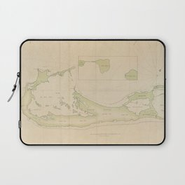 Vintage Map of Bermuda (1760) Laptop Sleeve