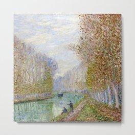 River Seine, Autumn, Paris, France by Francis Picabia Metal Print