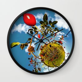 Rosehips Planet Wall Clock