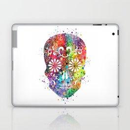 Sugar Skull Watercolor Print Wall Poster Home Decor Laptop & iPad Skin