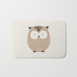 Owl Cute Woodland Animals Bath Mat
