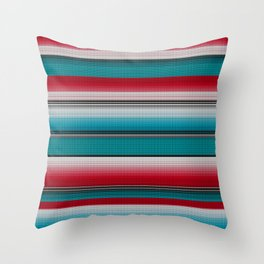 Mexican serape #5 Throw Pillow