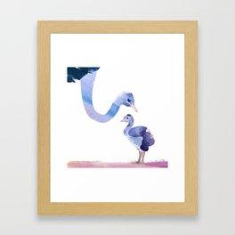 Fuzzy Love Framed Art Print
