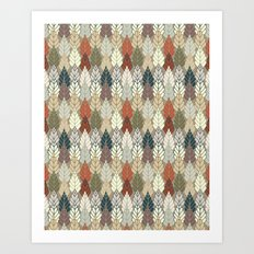 Trees Forest Pattern Art Print