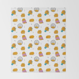 Hamster life Throw Blanket