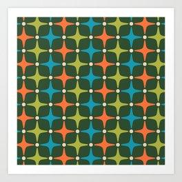 Mid Century Modern Star Pattern 934 Art Print