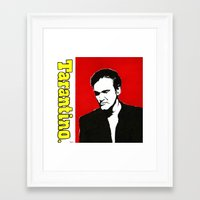 quentin tarantino Framed Art Prints featuring Quentin Tarantino in Color by Carolyn Campbell