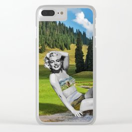 Marilyn in Transylvania Clear iPhone Case