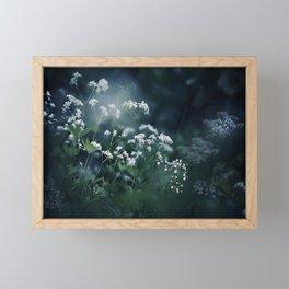Blue and White Baby's Breath Garden Framed Mini Art Print