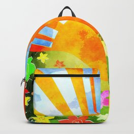 Watercolor Spring Sunset Backpack