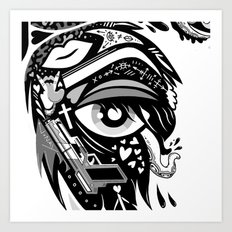 WINGED EYE 2 Art Print