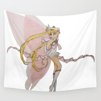 sailor moon Wall Tapestries featuring Sailor Moon by Brittany Ketcham