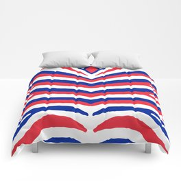 Red White and Blue French Flag Zebra Animal Stripes Comforters