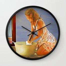 Cheerful Chores Wall Clock