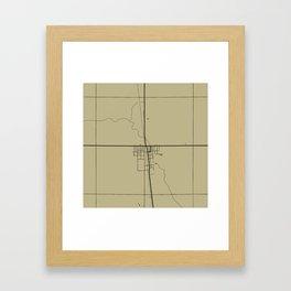 Kennedy Map Framed Art Print