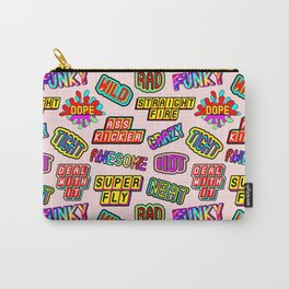 Funky pattern #08 (dope, straight fire, funky, hot, deal with it, crazy, awesome, etc) Carry-All Pouch