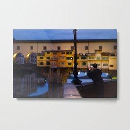 Lonely tourist (Ponte Vecchio) Metal Print