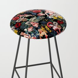 Floral and Pin-Up Girls IV Bar Stool