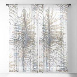 Ostrich Gold Sheer Curtain