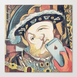 Tudor selfie Canvas Print