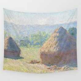 Haystacks, end of Summer by Claude Monet Wall Tapestry