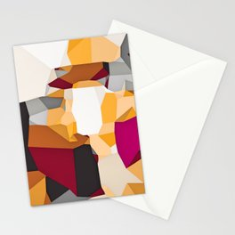 purple pink orange and grey modern abstract background in panorama Stationery Cards