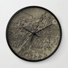 Vintage Pictorial Map of Arlington NJ (1907) Wall Clock