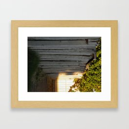 This Side of the Fence  Framed Art Print