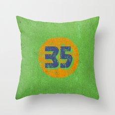 Vintage 35 Circle Throw Pillow