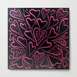 Love is in the Air - Pink Metal Print