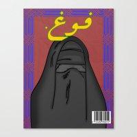 arab Canvas Prints featuring Arab Vogue by Bothayna Al Zaman
