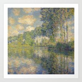 "Claude Monet ""Poplars on the Epte"" Art Print"