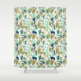 Folk Florals Shower Curtain