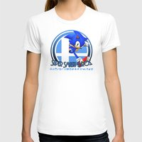 super smash bros T-shirts featuring Sonic - Super Smash Bros. by Donkey Inferno