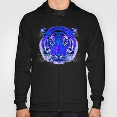 camouflage tiger on blue Hoody